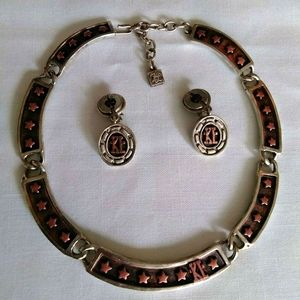 Karl Lagerfeld set necklace and earrings vintage